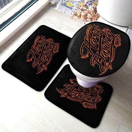 N / A Harley Davidson, tappetino antiscivolo, 3 pezzi, comodo e morbido.