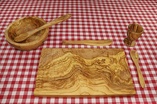 D.O.M. Die Olivenholz-Manufaktur D.O.M. Set da Colazione Palma, 6 Pezzi in Legno d'ulivo