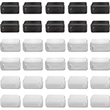 SunBroy USB コネクタカバー キャップ 黒10個 白10個 透明10個 メス用 オス用 USB2.0/USB3.0 Aタイプ USB ポート ハブ hub シリコン製 防塵 防水 柔軟 保護 シリコンタイプ (メス用(30個入り))