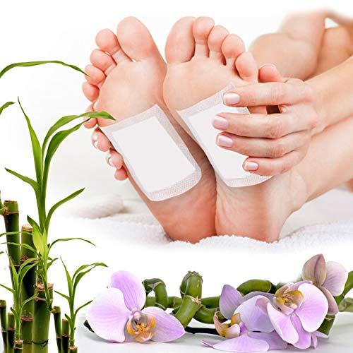 60pc Detox Fußpflaster, Fußpflaster zur Entgiftung, Toxine, Schlaf, Pflaster Gesundheitspflege, Körpergift entfernen, Wellness, Müdigkeit, Vitalpflaster, Entgiftungspflaster Füße (60)