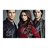 Posters de film classique The Vampire Diaries DS The Vampire Diaries ? Paul Wesley & Nina Dobrev & Ian Somerhalder ? Poster sur toile pour chambre à coucher, sport, bureau, décoration