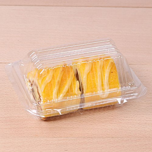 50/100 FBA Free Rectangular All Clear Dome Lid Carry-Out Cake Container (50)