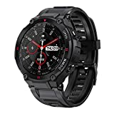 COSULAN Sport Smart Watch for Men, Fitness Tracker Bracelet with Bluetooth Calling/Music Play/Heart Rate/Blood Pressure/SpO2 Monitor/Sleep Tracker/Physiological Cycle Reminder/iOS&Android App (Black)