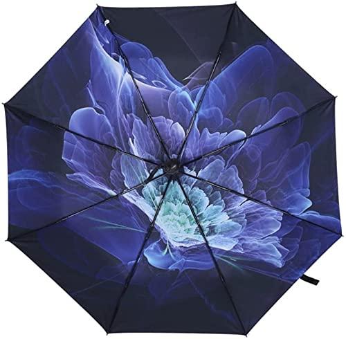 ZGLXZ Paraguas paraguas plegable automático paraguas doble paraguas lluvia y lluvia accesorios de viaje de doble propósito (color # 1) (# 4)