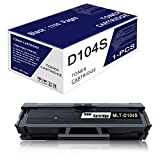 (1 Pack Black) MLT-D104S Compatible D104S Toner Cartridge Replacement for Samsung ML-1660/N ML-1665 ML-1666 ML-1675 ML-1864 ML-1865W SCX-3200 SCX-3205/W SCX-3217 SCX-3218 Printer Toner Cartridge.