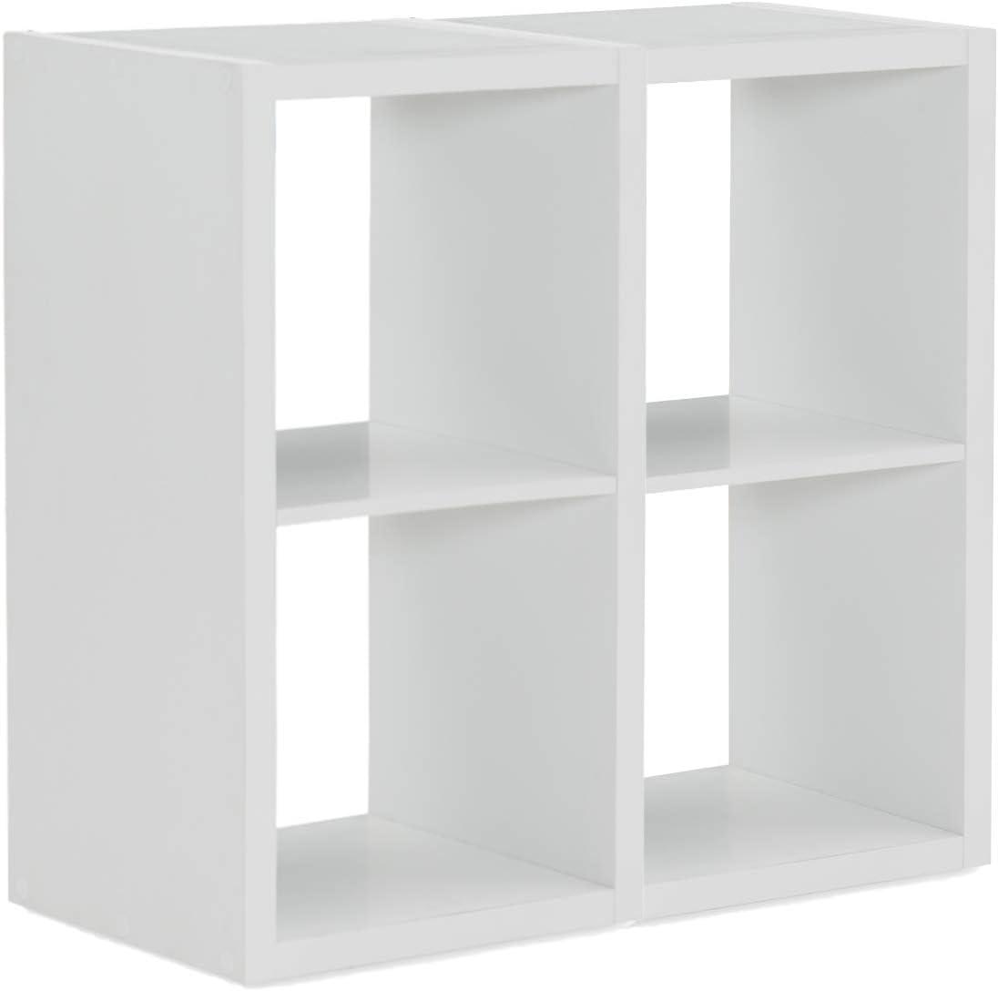 Linon Home Decor Dawes Milwaukee Mall 4 Cabinet White Long-awaited Storage Cubby