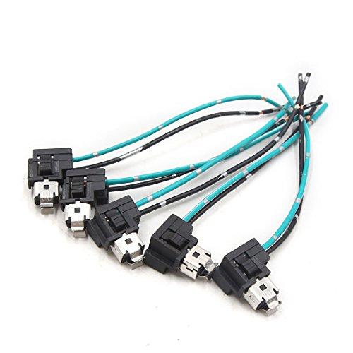 sourcing map Auto Camion Lampe H1 H3 Support Prise Connecteur Faisceau Câble Extension 5pcs