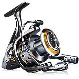 Sougayilang Fishing Reel Spinning -12+1BB Ultralight Smooth Powerful Spinning Reels for Freshwater Saltwater Bass Fishing(13bbdk-1000)