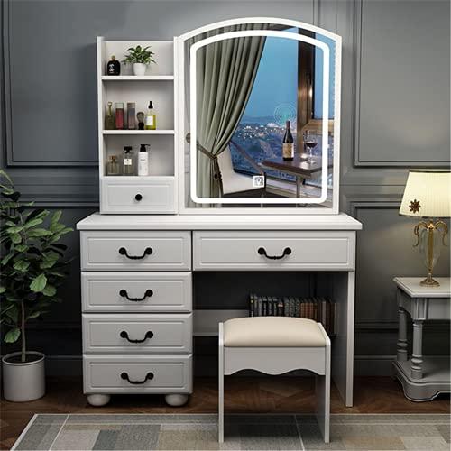 Tavolo da toeletta, tavolo da trucco, per camera da letto, camera da letto, scrivania, in legno, per casa, ufficio, studio