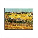 Cosecha en La Crau de Van Gogh Reproducciones de Pintura al óleo de Paisaje en Lienzo Carteles Impre...