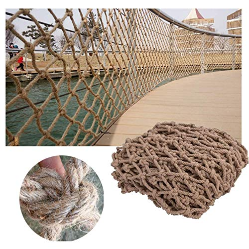 shh Red de cuerda para parque infantil, barandillas de seguridad para niños, escalada de cuerda tejida, camión, remolque, red de protección de pájaros, balcón, escalera de cuerda (tamaño: 3 x 3 m)