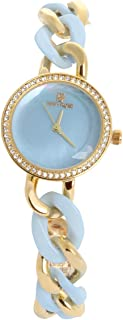 Nina Rose Wrist Watch for Women Crystal Inlaid Ceramic