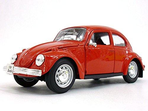 Volkswagen (VW) Classic Beetle Scale Diecast Metal Model - RED