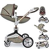 Daliya ® 2in1 360° Turniyo Kinderwagen Kombikinderwagen Buggy mit Babywanne & Sportsitz, inklusive...
