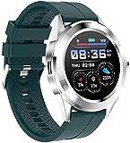 Moda Smart Watch 1 54 'Schermo rotondo Bluetooth Chiamata multifunzionale Sport Braccialetto Smart Fitness Tracker (Colore: Verde) (Verde) (Verde)