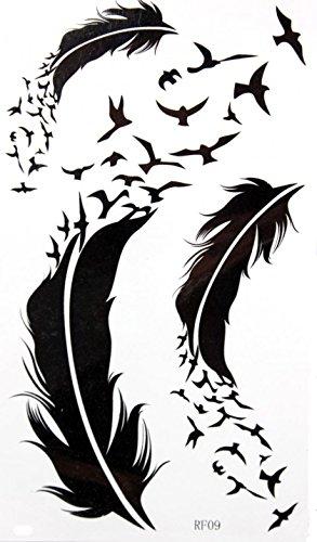 GRASHINE Goose toxique imperméable et non de plumes et de tatouage temporaire stckers