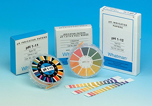 WHATMAN 036539 Papier, pH gamme, 1,8, 3,8, en bandelettes (Pack de 200)