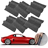 6 Pack Nano Sparkle Cloth for Car Scratches, Microfiber Nano Magic Cloth Scratch Remover, Nano Sparkle Cloth Nano Car Scratch Repair Kit Easily Repair Paint Scratches and Water Spots
