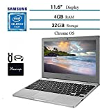 "Newest Samsung Chromebook 11.6"" Laptop Computer for Business Student, Intel Celeron N4000, 4GB RAM, 32GB Storage, up to 12.5 Hours Battery Life, WiFi, Chrome OS w/ HESVAP Bundle"