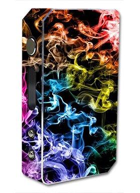 Skin Decal Vinyl Wrap for Pioneer 4 You ipv3 LI 165w watt Vape Mod Box / Colorful smoke blowing