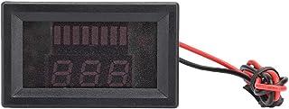 Sorand Visor de veículo elétrico, voltímetro de bateria, corrente direta durável para carro de bateria de 12 V-60 V (verme...