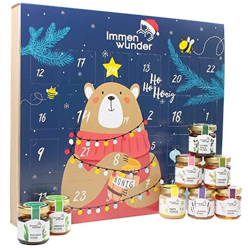 Immenwunder Honig Adventskalender - Für eine leckere & gesunde Weihnachtszeit - Mit 24 schmackhaften Honigen gefüllt - Zum selber Freuen & Verschenken - Riesige Auswahl auch mit exotischem Manukahonig