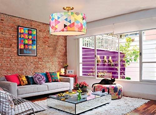 Plafondlamp, plafondlamp, plafondlamp, plafondlamp, ijzer, corpus kleur pop-stijl stoffen kap, plafondlamp, restaurant licht, studio, balkon, Ø40 x 31,5