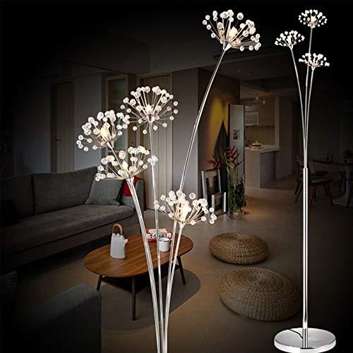 DSENIW QIDOFAN stehleuchte Moderne Kunst Löwenzahn LED Stehleuchte Kreative Mode Schlafzimmer Kristall Lampe Wohnzimmerstudie Dekaration Bodenlichter freies Verschiffen Innen