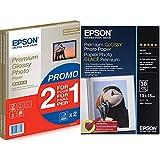 Epson C13S042169 Pack de 30 hojas de papel fotográfico A4 +Premium Glossy Photo Paper Papel fotográfico, 13x18