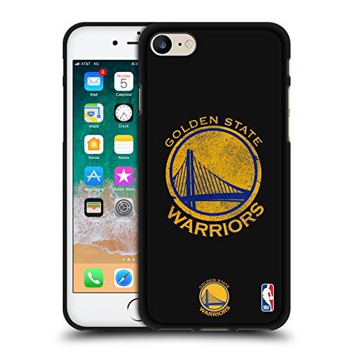 Head Case Designs Ufficiale NBA Aspetto Sdrucito Golden State Warriors 2 Cover Nera in Morbido Gel Compatibile con Apple iPhone 7 / iPhone 8 / iPhone SE 2020
