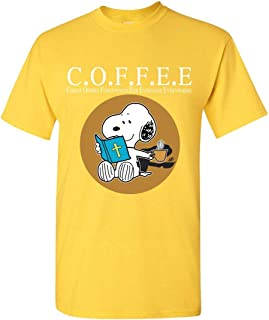 Coffee Christ Offers Fogiveness for Everyone Everywhere Snoopy T-Shirt