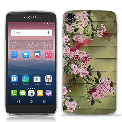FUBAODA for für Alcatel one Touch Idol 3 (5.5 inch) Hülle, 3D Erleichterung Muster TPU Hülle Schutzhülle Silikon Hülle für for für Alcatel one Touch Idol 3 (5.5 inch)