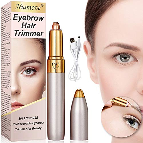 Eyebrow Hair Remover, Eyebrow Trimmer for Women, [2020 Newest] Eyebrow Hair Trimmer, With LED Light, USB Rechargeable Painless Portable Precision Electric Eyebrow Trimmer Removal Razor Tool for Women