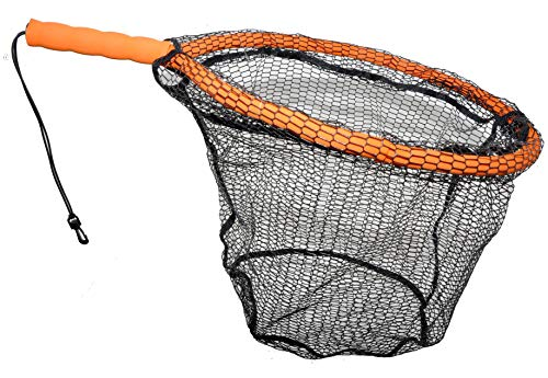 ForEverlast Inc. Generation 2 Non-Snag Floating Fishing Landing Net for Wade Fishing, Fly Fishing, Kayak Fishing, G2 Pro Net, Orange