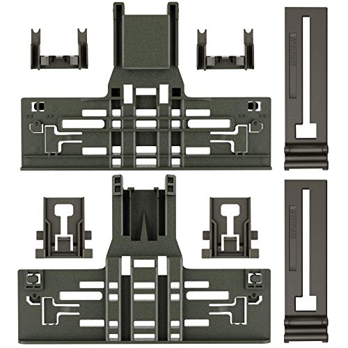 Upgraded 8 Packs Polymer Material W10546503 Upper Rack Adjuster & W10195840 Dishwasher Top Rack Adjuster & W10195839 Rack Adjuster & W10250160 Arm Clip-Lock& Fit Replacement for 665 Dishwasher