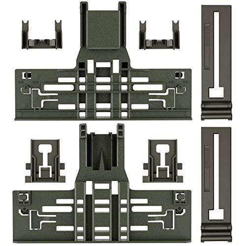 Upgraded 8 Packs Polymer Material W10546503 Upper Rack Adjuster &
