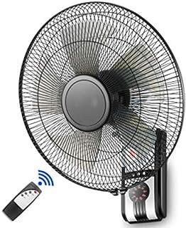 HWJ Ventilador de Pared de 16 pulgadas/43.5 cm, con Temporizador de Control Remoto, Ajuste silencioso oscilante de 3 velocidades, inclinación Ajustable, Cable de alimentación de 63 Pulgadas