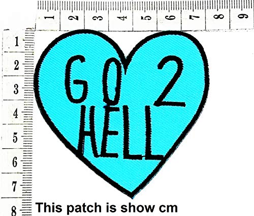 Best Price Go to Hell Biker Funny MC Club Cartoon Chidren Kids Embroidren Iron Patch/Logo Sew On Pat...