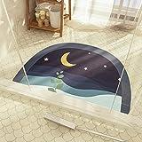 Alfombrilla antideslizante semicircular para baño de dibujos...