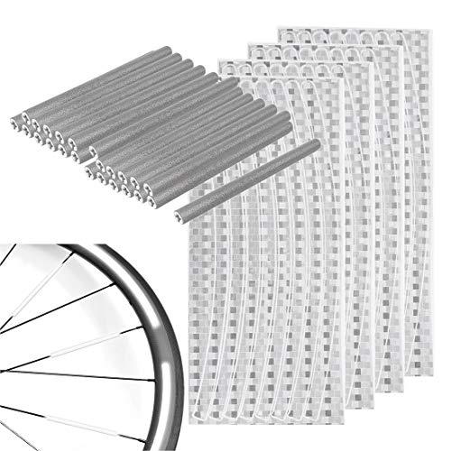 Reflector de Radios Bicicleta Spoke Reflector. Bicicleta Rueda habló Reflector, Reflectantes Etiquetas Adhesivas, Reflectante para Rueda de Alta Visibilidad, para radios de Bicicleta estándar