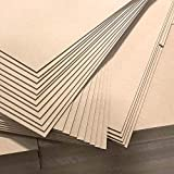 """3mm 1/8"""" x 12"""" x 20"""" MDF Plywood - Perfect for Arts & Crafts, School & DIY Projects, Drawing, Painting, Wood Engraving, Burning & Laser Projects - Cherokee Wood Products (16)"""