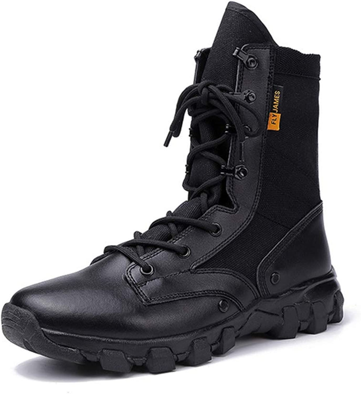 K-Flame Men's Desert Boots Military Combat Boot Jungle Tactical Boots Climbing shoes Hiking Outdoor Breathable Special shoes Non-slip for Cadet Security Patrol