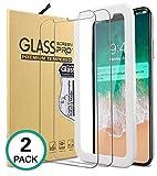Bovon iPhone X Panzerglas Schutzfolie [2 Stück] [9H Gehärtetes Glas] [Hüllenfreundlich], Ultra...
