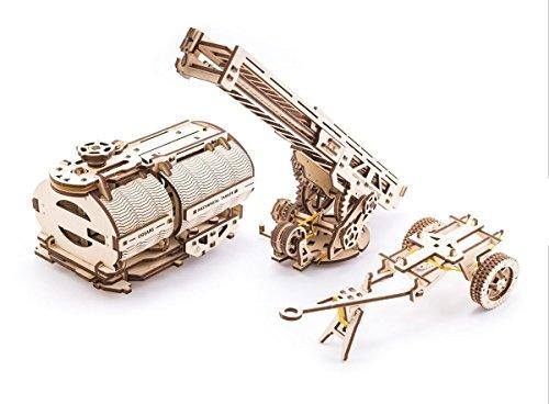 UGEARS Conjunto de Adiciones para Camión Mecánico 3D Rompecabezas de Madera Kit de Construcción Sin Pegamento para Niños y Adultos