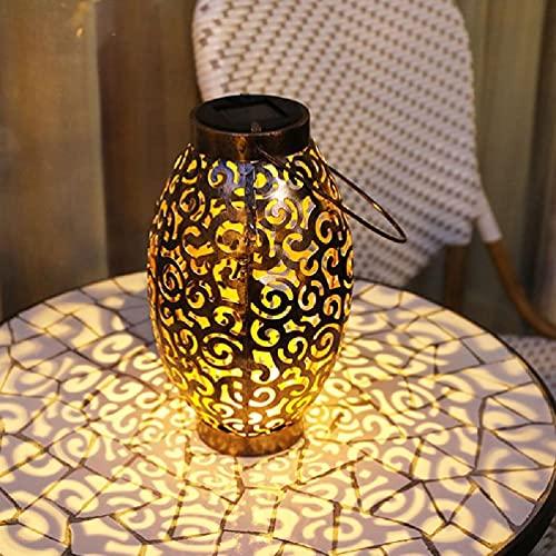 YAOYAN Farolillo de jardín con luz solar LED, resistente al agua, decoración de Navidad
