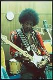 Close Up Jimi Hendrix Poster Studio (93x62 cm) gerahmt in:
