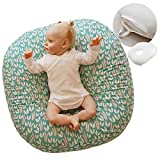 ROTOTO bebe Baby Lounger Pillow Newborn Nest (with Removable Cover for Infant) (Heart)