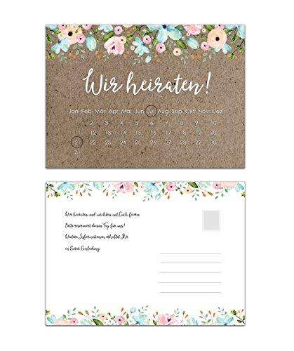 Save the Date kaarten voor de bruiloft