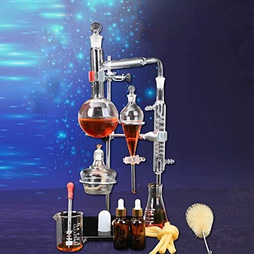 LXNQG Kit De Herramientas De Vidrio De Laboratorio Químico Profesional De 500 Ml, Equipo De Destilación Al Vacío, Equipo De Filtración De Destilación Universitaria para Laboratorio Químico