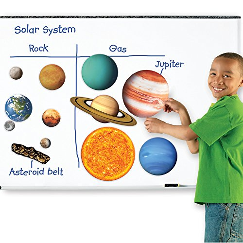 Learning Resources Giant Magnetic Solar System, Whiteboard Display, 13 Piece Set, Ages 5+